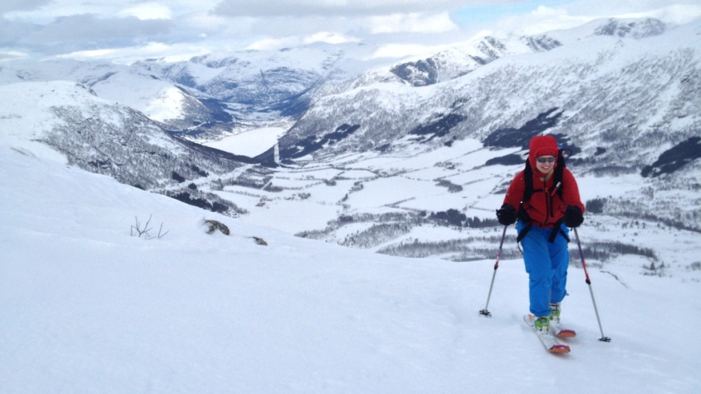 På vei opp Olahansen. Foto: Einar Løken