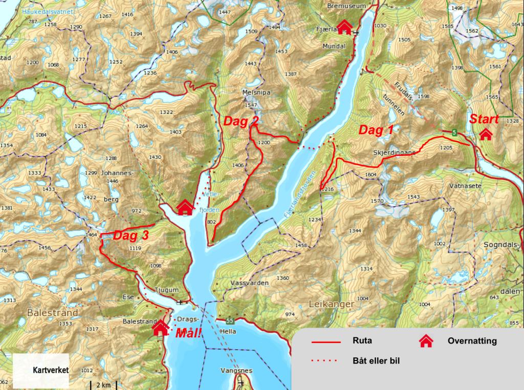 sognefjordrutakart2016