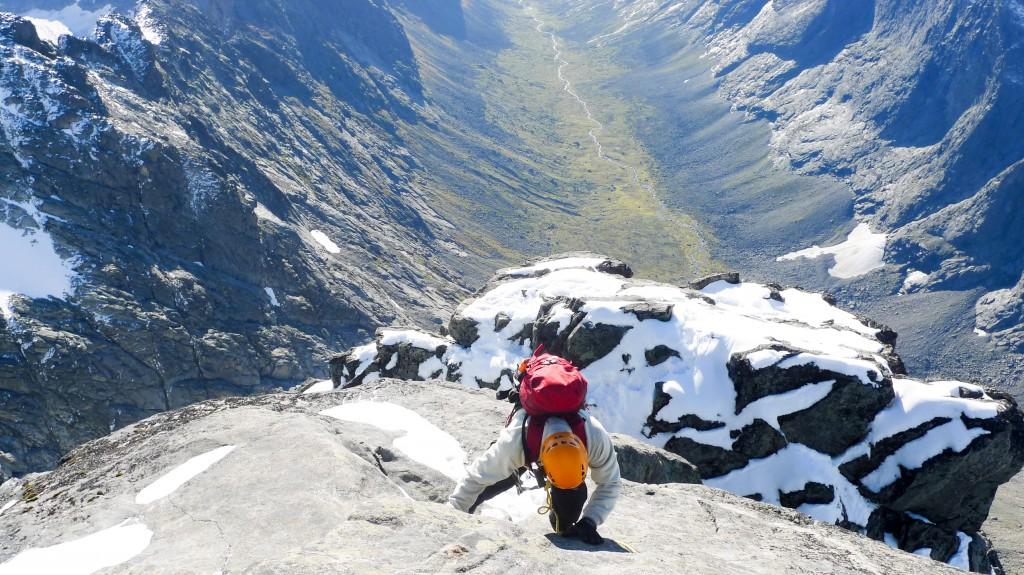 Bildet tatt fra toppen og sørover mot Midt Maradalen