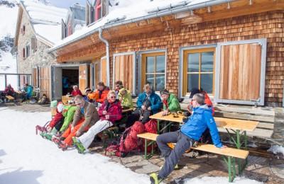 På Jamtalhütte