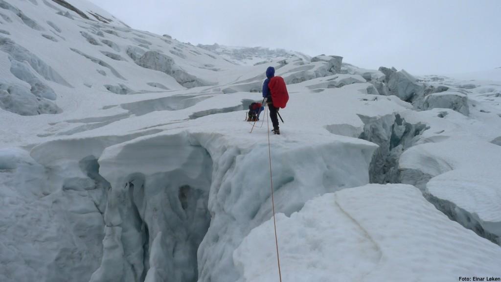 Langtur opp hele Nigardsbreen til hytta på Mannen